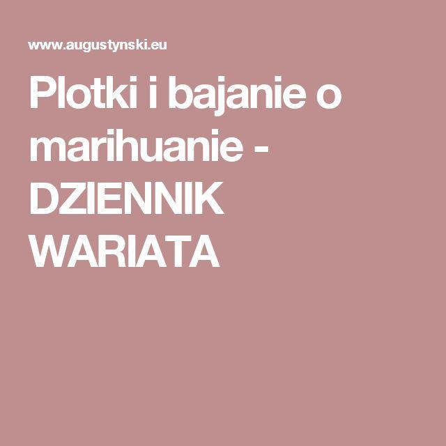 Plotki i bajanie o marihuanie - DZIENNIK WARIATA