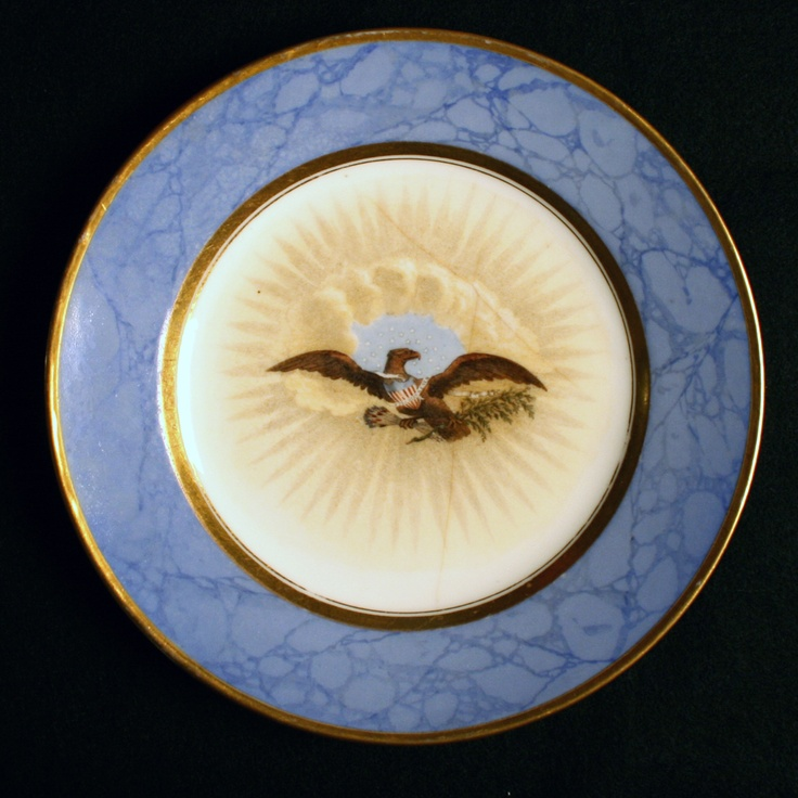 White House china used by President James Monroe, fifth President of the United States (1817–1825) and First Lady Elizabeth Monroe.
