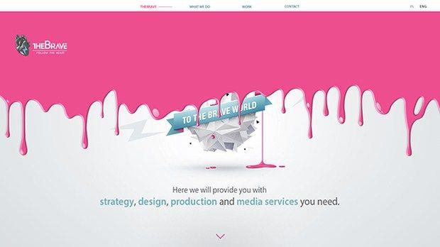 Pink Web Design Inspiration