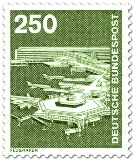 Briefmarke Flughafen Frankfurt am Main (1982) Postzegels