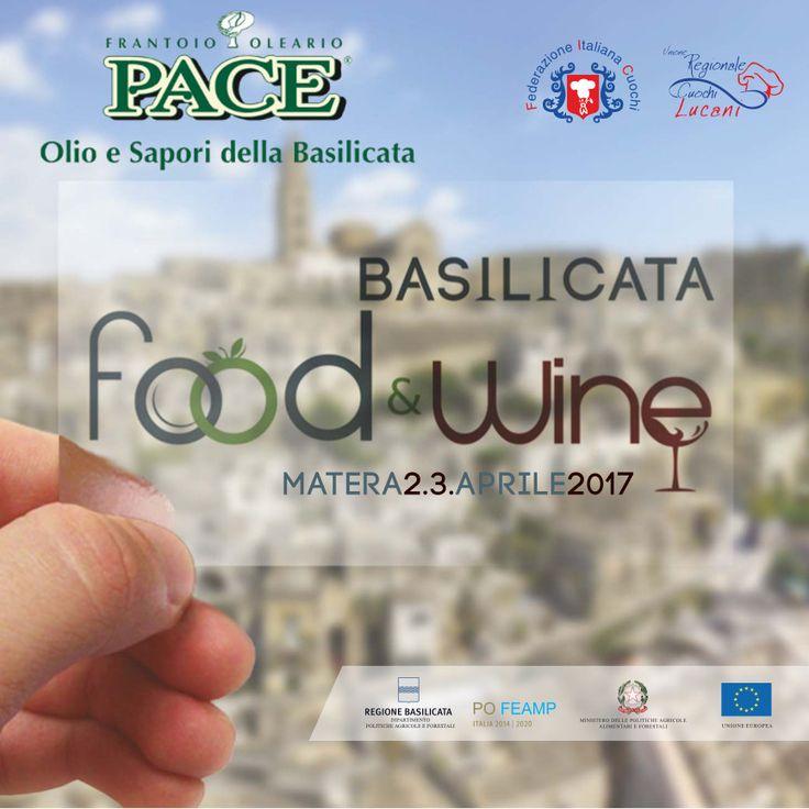 Domenica 2 e Lunedì 3 Aprile si terrà a Matera l'evento Basilicata Food & Wine. Olio Pace sarà come sempre a fianco dell'Unione Regionale Cuochi Lucani per accompagnarli nella rappresentazioni delle tipicità Lucane.
