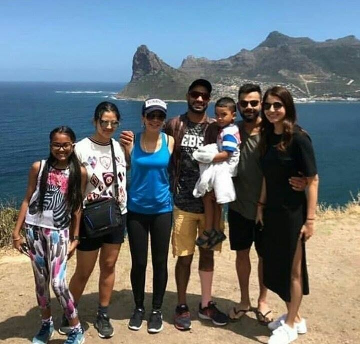 Virat Kohli & Anushka Sharma spends quality time with Shikhar Dhawan & family in Capetown - http://ift.tt/1ZZ3e4d