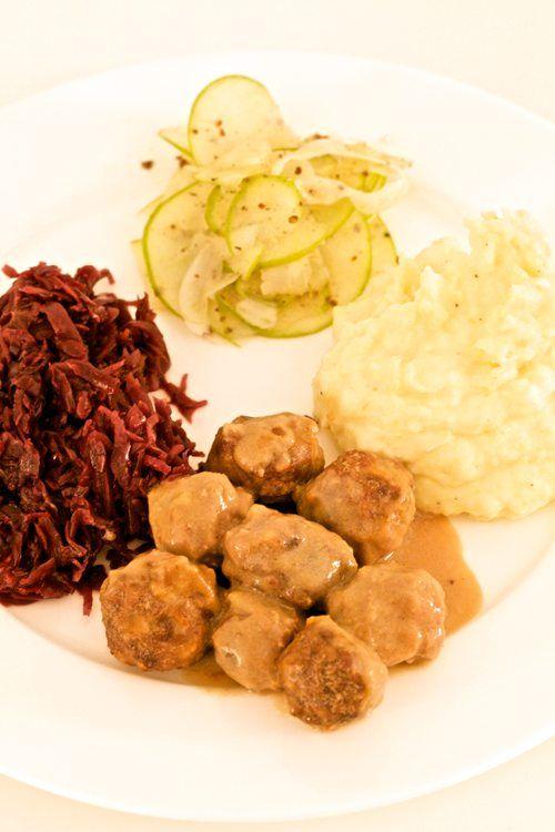 Winter Supper: Swedish Meatballs, Rot Kraut, Creamy Mashed ...