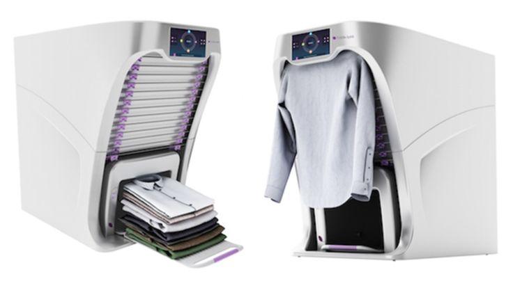 Mesin multifungsi menyetrika dan melipat baju kurang dari satu menit. #eannovate #teknologi #robot #foldimate #pelipatbaju #setrikabaju