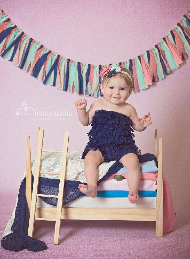 Navy, Coral & Mint garland  #fabricgarland #garland #banner #bunting #newbornphotography #babyphotography #childphotography #babyprops #photoprop #photoprops #newbornprops #cakesmash #firstbirthday #1stbirthday #birthdaybanner #partydecor #partyplanner #handmade