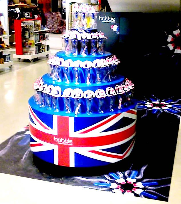 Retail display for Bobble in Selfridges, London www.mustardsolutions.co.uk