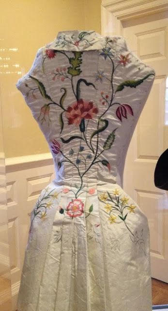 Visiting With Elizabeth Bull's Wedding Dress, c. 1731-1735: The practice bodice Elizabeth worked on before starting her wedding gown. See other photos on the site and this board.