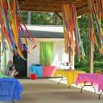 Hula hoop + crepe paper = decor