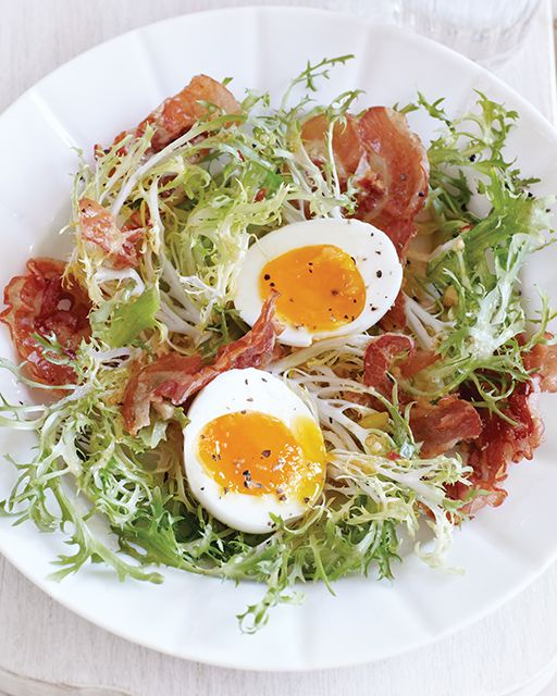 Bistro Salad with Crispy Pancetta Recipe from Sweet Paul Magazine