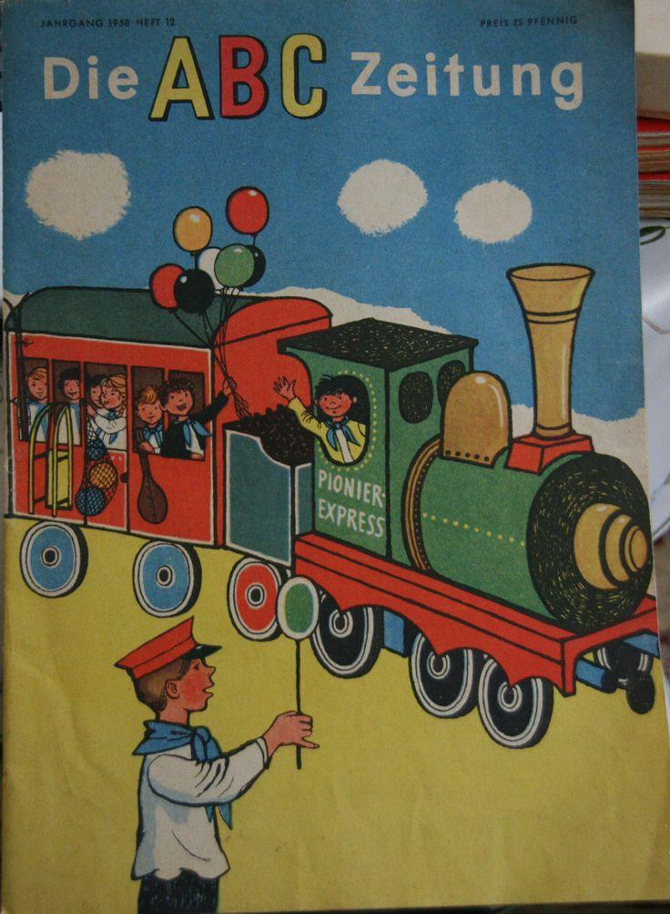 Kinderzeitschrift ABC Zeitung Junge Pioniere Basteln Rätsel Lieder 1958 | eBay