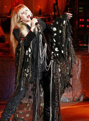 Stevie Nicks hands me her tambourine and asks me to join her on stage...