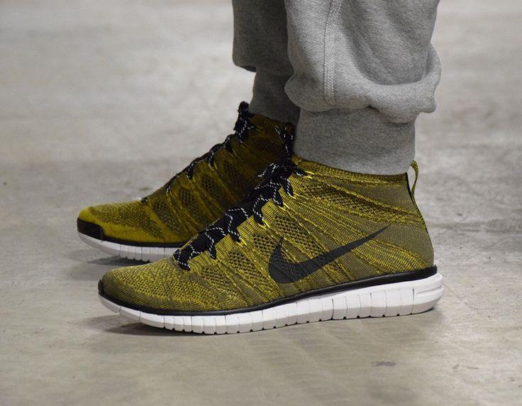 #Nike Free Flyknit Chukka Tarp Green/Black #sneakers