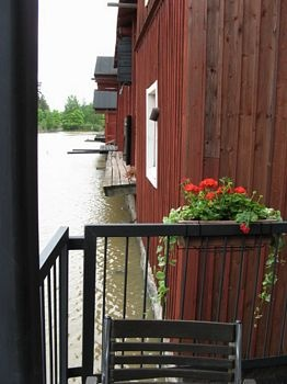 Porvoo, this is from my favorite cafe's terrace. Porvoon Paahtimo.