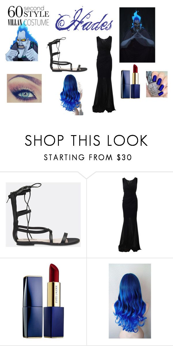 """Disney Hades Costume"" by clarab123 on Polyvore featuring Pink Inc, Blumarine, Estée Lauder, Halloween, 60secondstyle and villaincostume"
