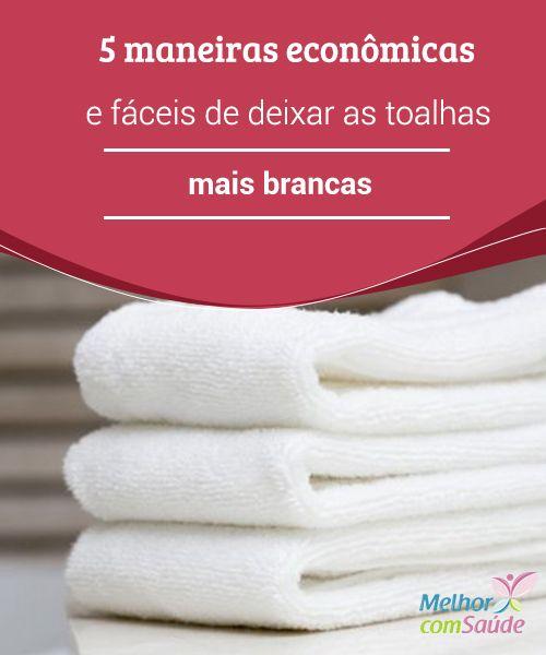 Toalhas mais brancas: 5 #maneiras econômicas de consegui-las  Usando #produtos como bicarbonato de sódio e vinagre de maçã, você terás as #toalhas sempre #limpas e macias sem usar químicos agressivos.