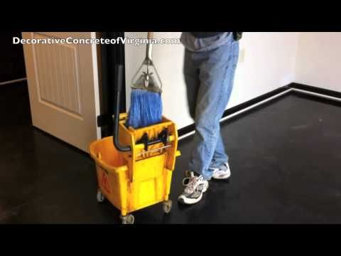 How to wax stained concrete epoxy or any type of sealed for How to remove wax from stained concrete floors