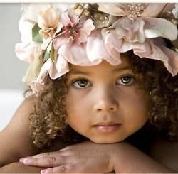 Little Doll: Little Girls, Precious Children, Natural Curly Hair, Shower Cap, Flowers Girls, Baby Pictures, Girly Girls, Kids Clothing, Eye