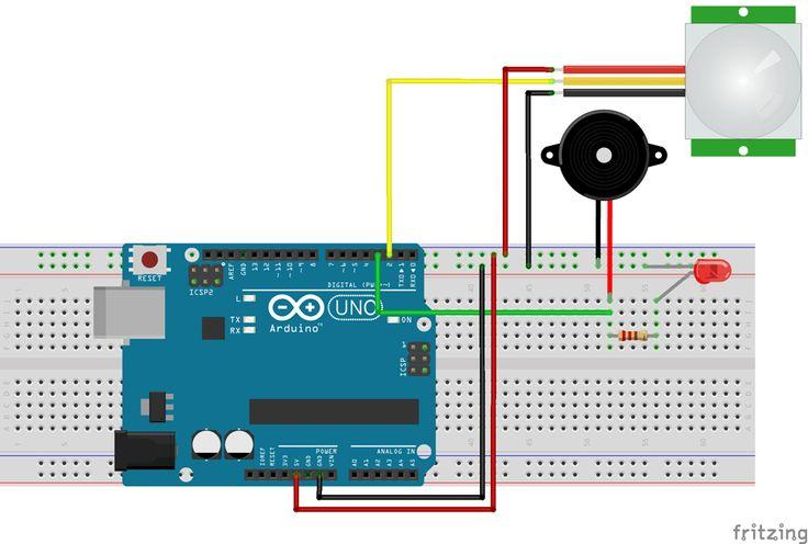 Arduino Motion Sensor Circuit Diagram