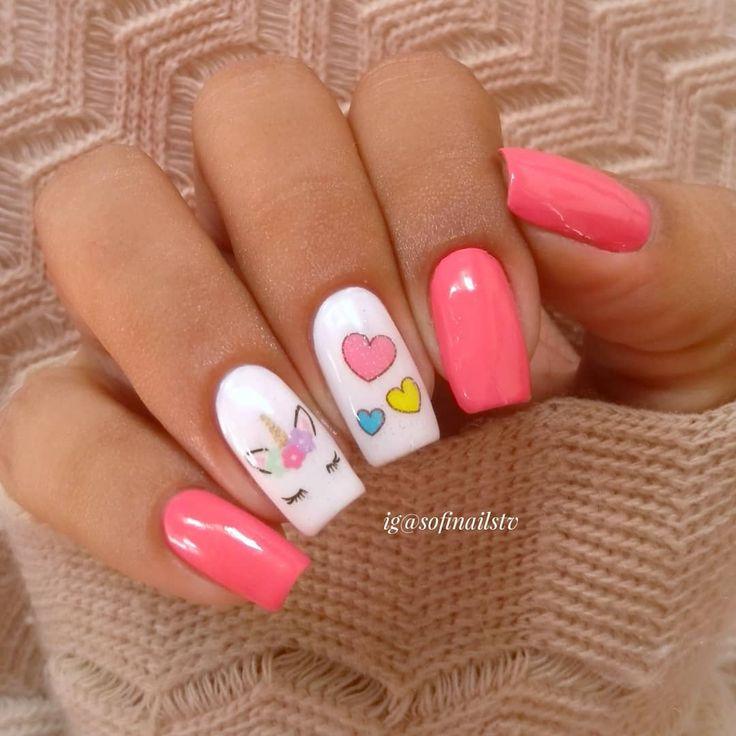 Beautiful unicorn nails | unicorn nail art | Summer nails | #unicornnails | #unicorn | #nails