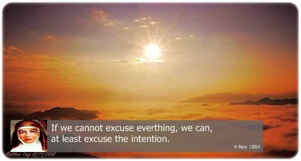 If we cannot excuse everything, we can, at least excuse the intention