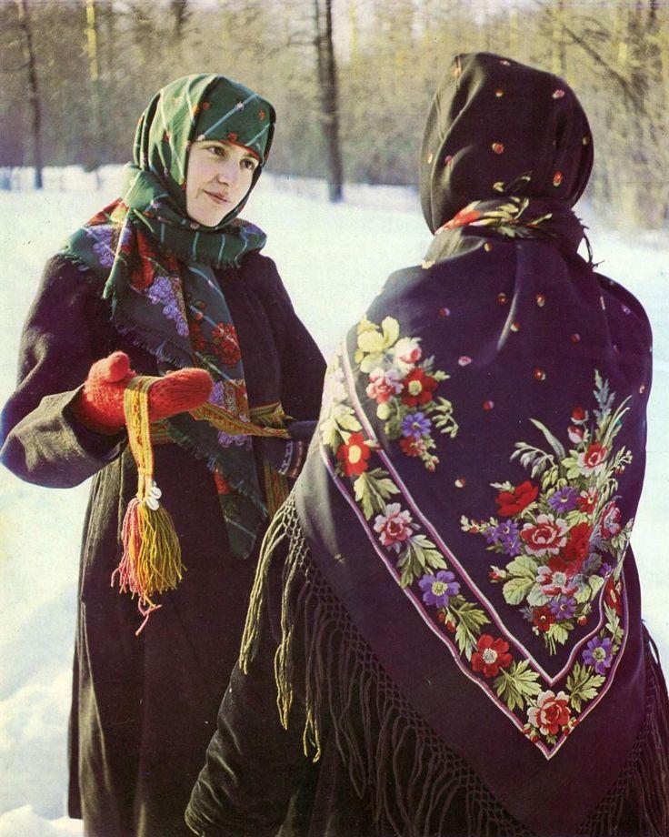 Old Pavlovsky Posad shawls, early 20th century, Russia.