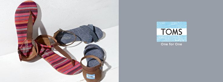 TOMS sandals for women.