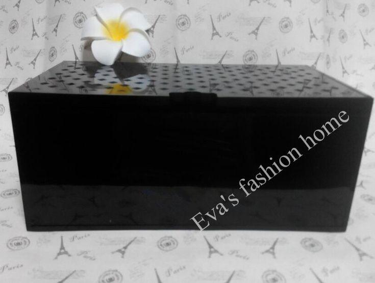 g nstige gro e schwarze acryl neue multi funktion doppelte schicht parf m boxen schmuckschatulle. Black Bedroom Furniture Sets. Home Design Ideas