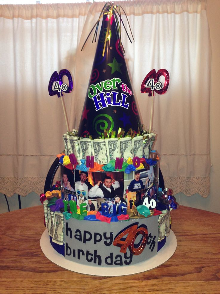 40th birthday money cake money tree pinterest 40th for 40th birthday cake decoration