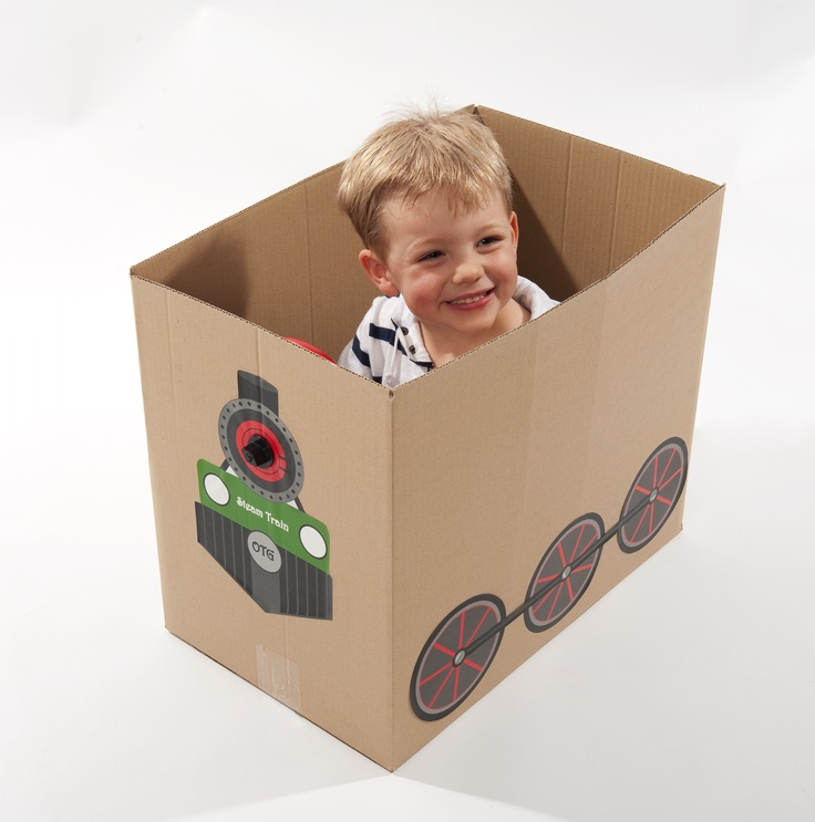 $19.95   Get more mileage out of empty cardboard boxes with Imaginabox®. /      Imaginabox® Train – the simple, but practical kit that turns any cardboard box into a train...choo choo!