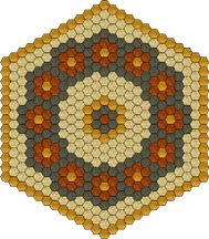 Practice Project: Hexagon Table Topper | Quilt Patterns & Blocks | Angie's Bits 'n Pieces