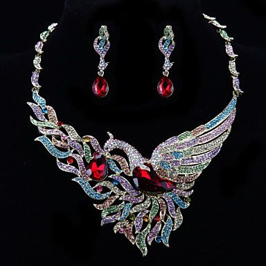 Мода Павлин Ювелирные изделия с бриллиантами набор (ожерелье, серьги) – EUR € 45.99