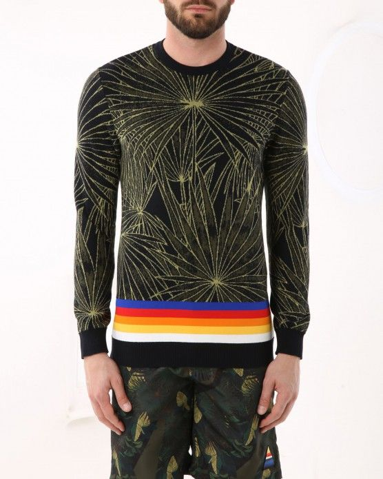 Pullover with floral graphic design Iceberg