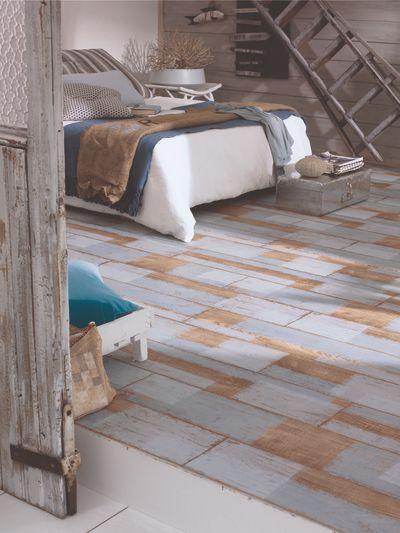 Esprit pastel dans une chambre. Sol PVC Tarkett disponible chez ...