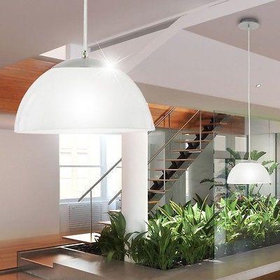 Moderno Vetro LED Lampadario Luce A Sospensione 3000 Kelvin Nichel opaco