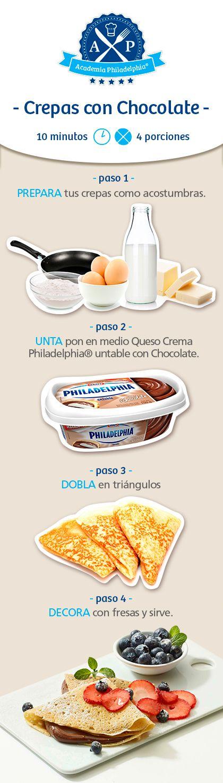 Estas crepas con Philadelphia Untable, ¡son deliciosas!