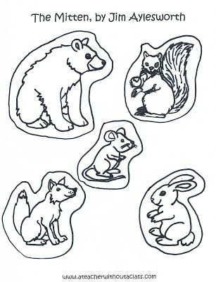 The Mitten: The Animals