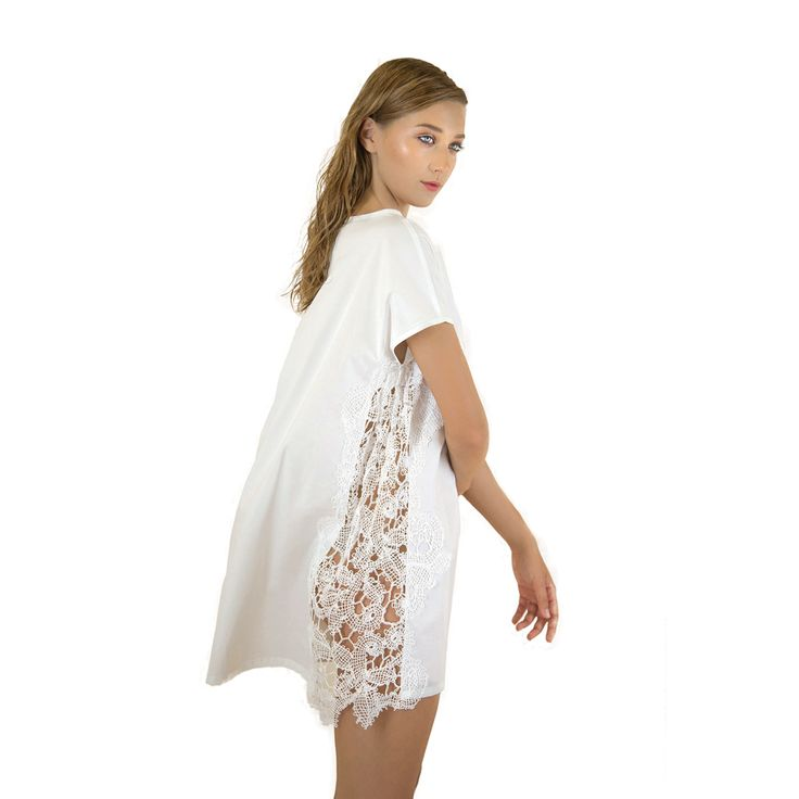 Lila Eugenie Cotton Dress with Gauze Crochet
