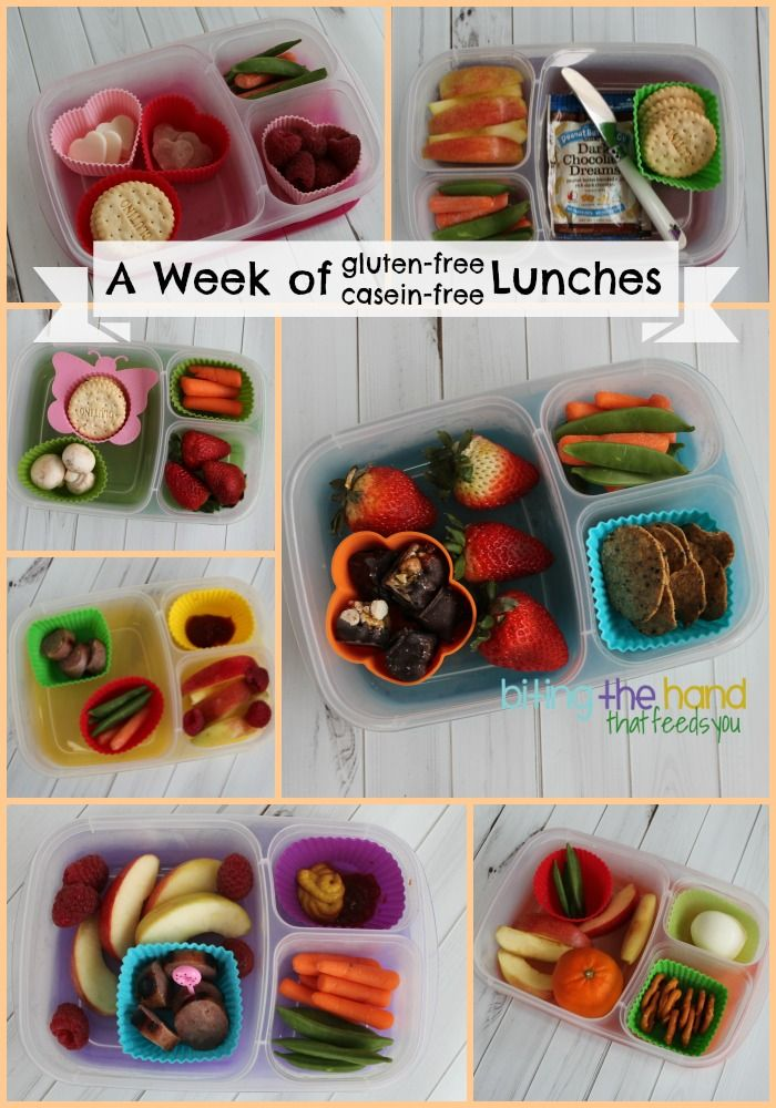 A week of gluten free and casein free lunches! | packed in @EasyLunchboxes