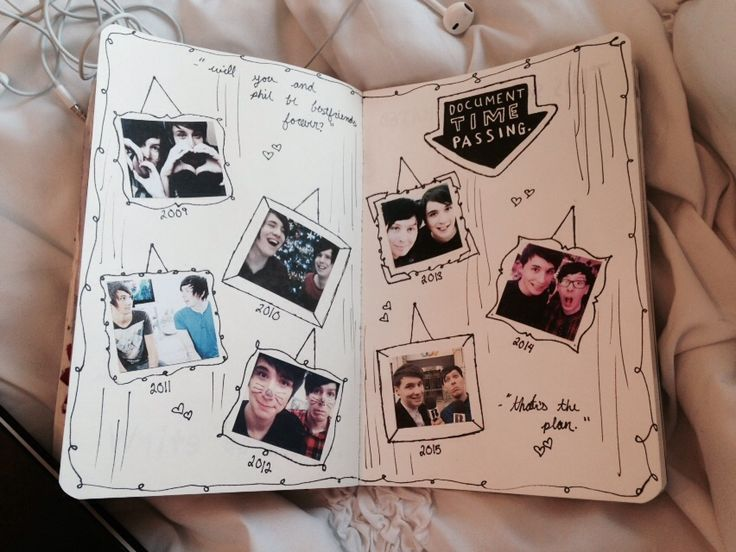 "dans-nugget: """"""will you and phil be best friends forever?"" ""thats the plan."" "" another page from my Wreck this Journal :) """