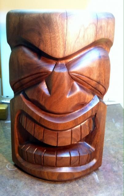 Secret Squirrel Tiki Carving