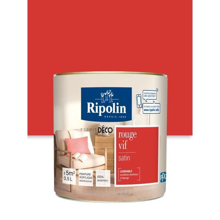 Ripolin Peinture Murale Toutes Pièces Rouge Vif Satin 0