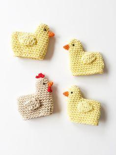 Eine Anleitung für gehäkelte Küken als Eierwärmer zu Ostern – Tiere häkeln
