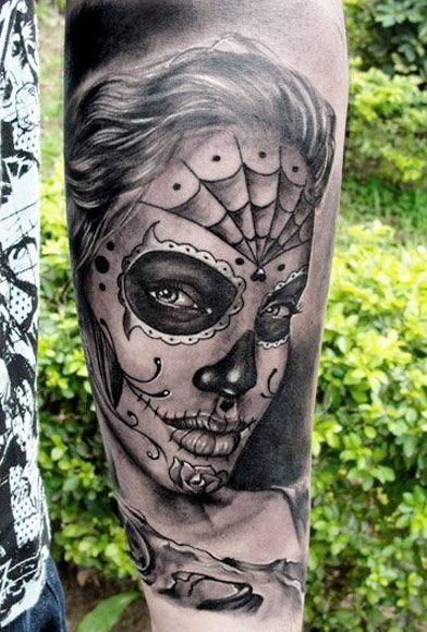112 best images about muerte tattoos on pinterest for Best realism tattoo artist near me