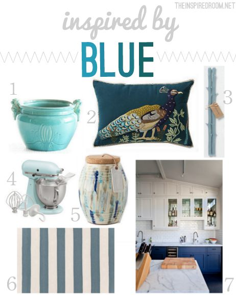 Foundational colors in your home.     blue-home-decor-inspiration