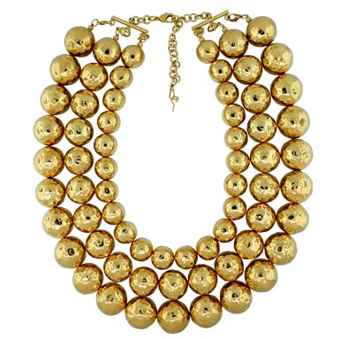 Triple Stranded Luxe Gold Necklace