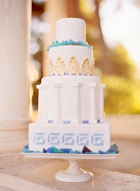greek inspired wedding cakes 17 best images about grecian baby shower theme on 14944