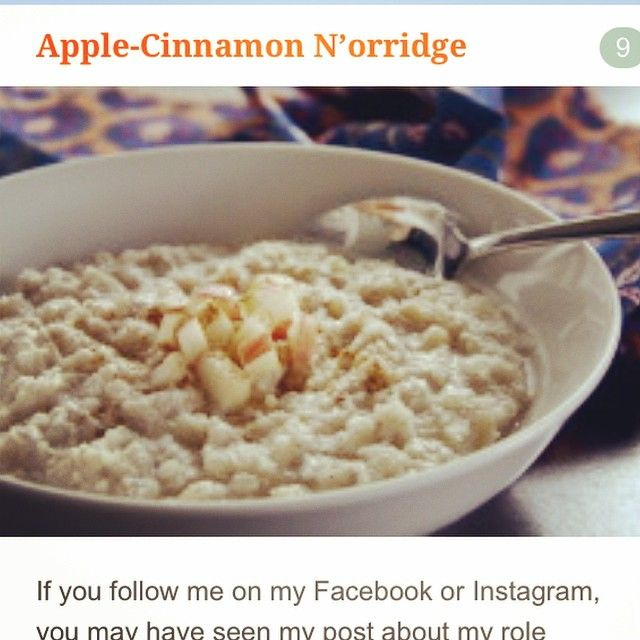 Paleo Apple Cinnamon N'orridge | coconut milk, cauliflower rice, coconut, apple, vanilla, cinnamon, Optional: honey, maple syrup or chopped dates* to sweeten