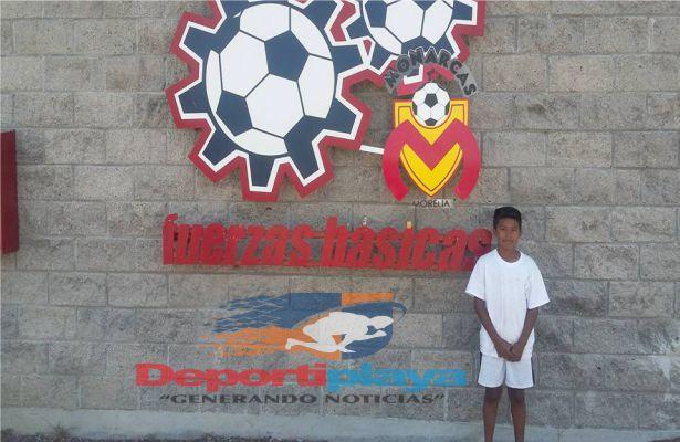 Niño cancunense al Club Morelia…