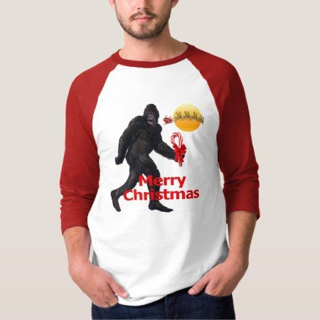 Merry Christmas Bigfoot T-Shirt - tap to personalize and get yours