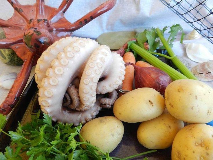 Картофель с осьминогом